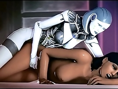 Mass Effect - Samantha Taynor and EDI Sexual Fantasy - Compilation