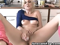 Pleasuring Her Pussy With Multiple Toys