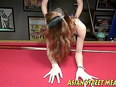 Anal Thai Pulchritudinous Buggered On Billiard Board
