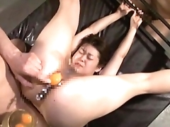 Extreme Japanese AV hardcore sex leads to raw egg speculum