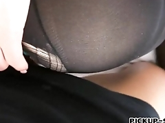 Blue Eurobabe gets pussy fucked for cash