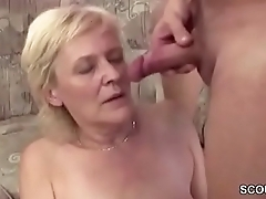 Above-board 18yr old Seduce Granny to Get His First Fuck