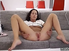 Wacky czech cutie gapes her wet snatch to the special