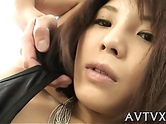 Exploring a moist and hirsute asian cunt