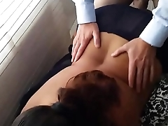 Unloading cum on Another Man'_s Wife'_s Back