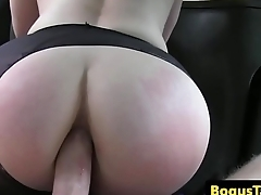 Bigbooty passenger analized unconnected with taxi driver