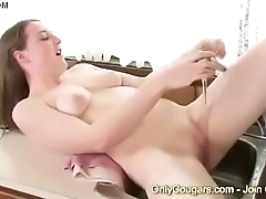 Sheila Faye Gets Off In The Kitchen Sink