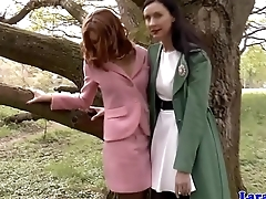 Classy euro lesbos in pussylicking sixtynine