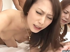 Screetching Asian floozies fucked by the buttlers