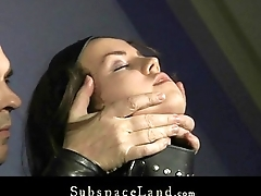 Merciless discipline be proper of petite resultant captive trained be proper of bdsm blowjobs
