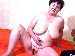 OMAHOTEL Two oldmature BBW grannies masturbation compilation