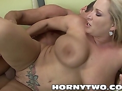 Big booty PAWG big booby chubby hardcore bitch fucked deep by fat stepson cock