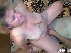 Granny And Teen May Experiencing Themselves