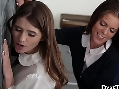 Teen lesbians 3way bleed for