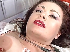Sexy nurse Jessica Rizzo fucked in an ambulance by a colleague