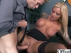 Office Busty Bird (britney shannon) Get Hard Style Banged clip-05