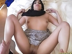 An arab allows him to bang her wet pussy