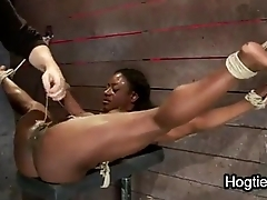Muscle woman made-up squirt