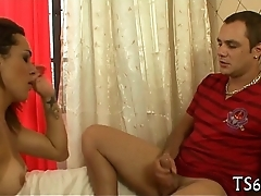 T-girl loves anal games a lot