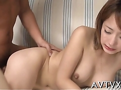 Tantalizing sex with hot asian playgirl
