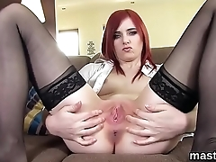 Sexy czech nympho spreads will not hear of soft vagina to the extreme