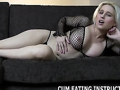 Eat your cum after I milk it from your balls CEI