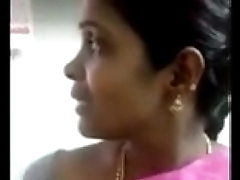 maid in saree allow to press boobs steep to owner