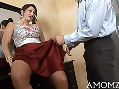 Sex delineated mommy in a hot act