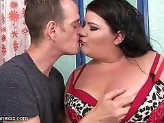 BBW Juicy Jazmynne gets railed &amp_ face fucked