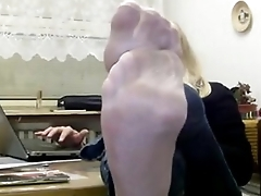 mrs teacher and her nylonfeet