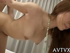 Wicked fucking for cute asian playgirl