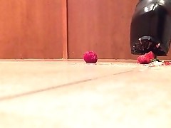 Tall Leather Platform State official Subdue Strawberries
